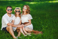 Happy family spends together the weekend. Royalty Free Stock Photography