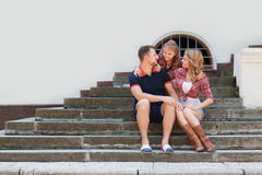 Happy family spends together the weekend. Royalty Free Stock Images