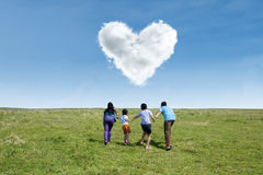 Happy family at springtime Royalty Free Stock Images