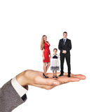 Happy family stand on hand Stock Images