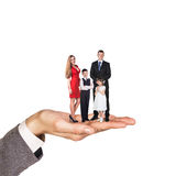Happy family stand on hand Stock Photography