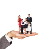 Happy family stand on hand Stock Photos