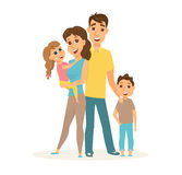 Happy family standing Royalty Free Stock Photos