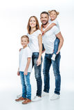 Happy family standing together Royalty Free Stock Image