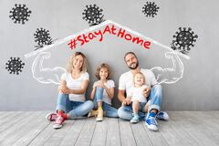 Free Happy Family Stay At Home Royalty Free Stock Photos - 178709228