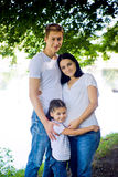 Happy family staying Royalty Free Stock Photos