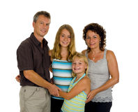 Happy family in studio Royalty Free Stock Photos