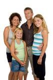 Happy family in studio stock photo