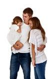 Happy family in the studio Royalty Free Stock Image