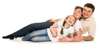 Happy family in studio Stock Photography