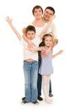 Happy family in studio Royalty Free Stock Image