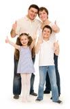 Happy family in studio Royalty Free Stock Photography