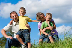Happy family in summer Stock Photography