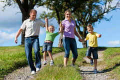 Happy family in summer Stock Photo