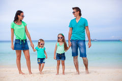 Happy family during summer beach vacation Stock Image