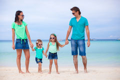 Happy family during summer beach vacation Royalty Free Stock Photography
