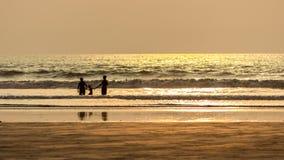 Happy family, summer beach Royalty Free Stock Image