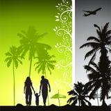 Happy family, summer holiday stock illustration