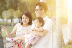 Happy family in summer holiday vacations Stock Image