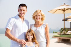 Happy family on summer vacation at resort beach Royalty Free Stock Photo