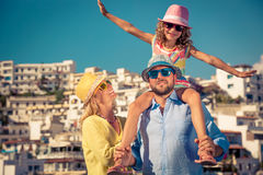 Happy family on summer vacation Royalty Free Stock Image