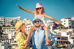 Happy family on summer vacation Stock Photo