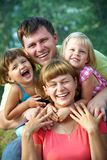 Happy family in  summertime Royalty Free Stock Photography