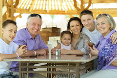 Happy family  at table Royalty Free Stock Photography