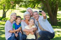 Happy family taking a selfie Royalty Free Stock Photo