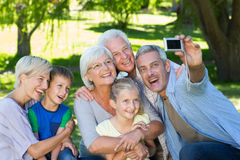 Happy family taking a selfie Royalty Free Stock Photography