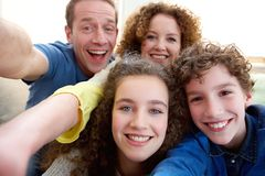 Happy family taking a selfie together Royalty Free Stock Photography