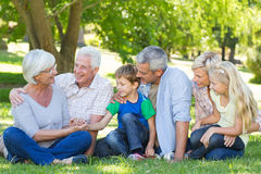 Happy family talking to each other Stock Images