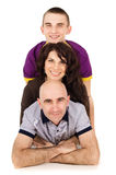 Happy family with a teenager Stock Photography