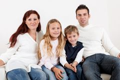Happy family with their children Royalty Free Stock Images