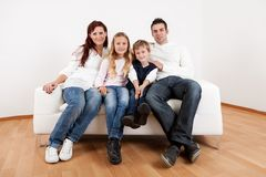 Happy family with their children royalty free stock photos