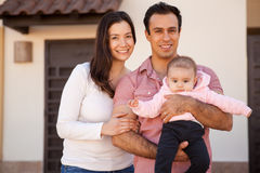Happy family in their new house Royalty Free Stock Images