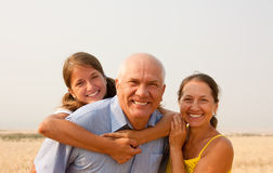 Happy family of three Stock Image