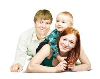 Happy family  from three Royalty Free Stock Photos