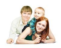 Happy family  from three Royalty Free Stock Photos