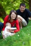 Happy family of three Royalty Free Stock Photo