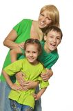 Happy family of three Stock Image