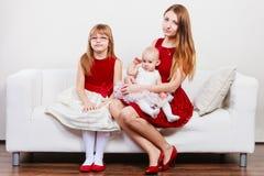 Happy family of three women Stock Images