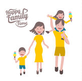 Happy family time. parent and children with cheerful smile. Stock Photo