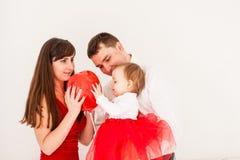 Happy family heart balloon Royalty Free Stock Image