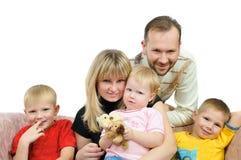 Happy family togeather on sofa Royalty Free Stock Photo
