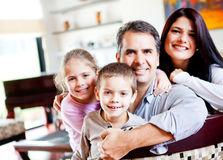 Happy family together Stock Images