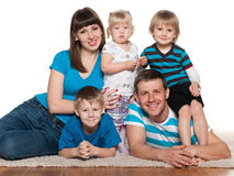 Happy family is together Royalty Free Stock Photography