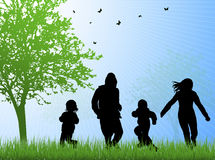 Happy family together outdoors Royalty Free Stock Images
