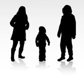 Happy family together outdoors Stock Photography