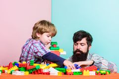 Happy family together. small boy with dad playing together. father and son play game. happy family leisure. child stock image